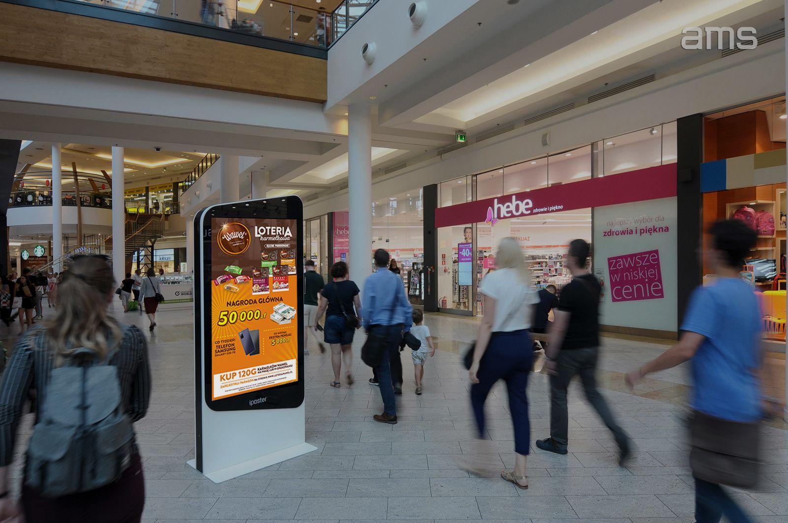 skuteczność kampanii marki Wawel zrealizowanej przez AMS w centrach handlowych
